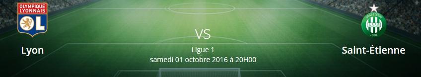 Pronostics Lyon-Saint-Étienne Ligue 1