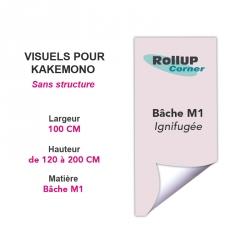 Pour votre banderole, chez Rollup Corner : impression seule ou support + impression